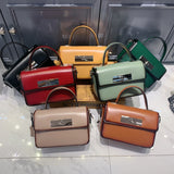Small Leather Handle Satchel Bags Purses - Annie Jewel