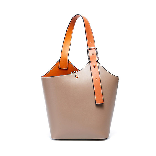 Small Leather Bucket Tote Shopper Bags Purse