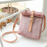 Handmade Small Leather Fold Over Satchel Crossbody Bag Purse - Annie Jewel