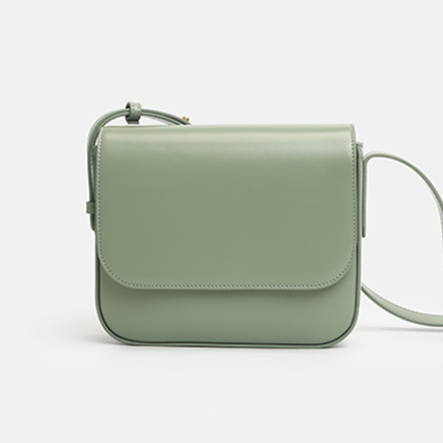 Green Square Crossbody Box Satchel Bags