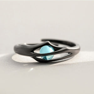 Unique Silver Adjustable Crystal Statement Rings Gift For Women