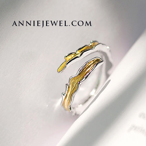 Unique Silver Adjustable Wave Ring Band Jewelry Gift For Women - Annie Jewel