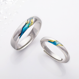 Unique Silver Galaxy Adjustable Lover Bands Rings Womens Gifts - Annie Jewel