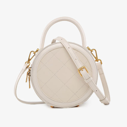 White Round Circle Shoulder Bags - Annie Jewel