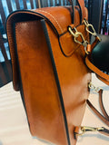 "Women's Leather Cambridge Satchel 12"" Backpack Travel Bag Purse - Annie Jewel"
