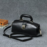 Women's Leather Small Doctor Purse Style Handbag Purse - Annie Jewel