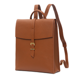Women's Leather Flap Vertical Satchel Backpack Travel Bag Purse - Annie Jewel