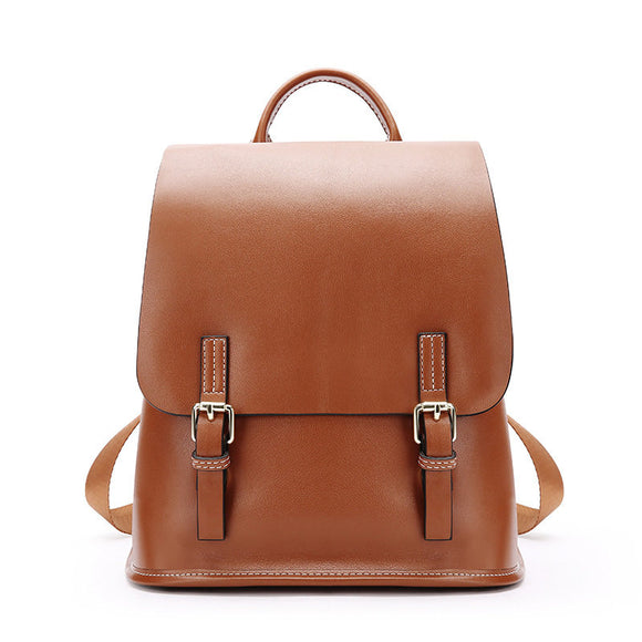 Women's Small Leather Flap Satchel 11