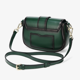 Womens Leather Small Saddle Crossbody Bags - Annie Jewel