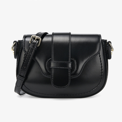 Womens Leather Small Saddle Crossbody Bags
