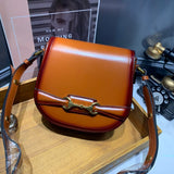 Womens Leather Small Saddle Bags Purses - Annie Jewel