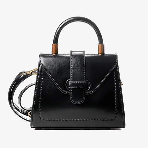 Small Black Satchel Crossbody Bags - Annie Jewel