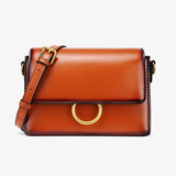Womens Small Leather Square Crossbody Bags - Annie Jewel