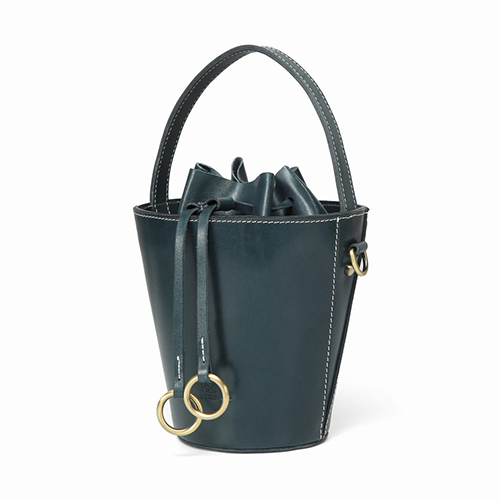 Womens Best Leather Drawstring Handle Bucket Bag Purse