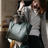 Womens Large Leather Tote Bags For Work Shopper Bag 2019 - Annie Jewel