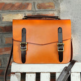 Womens Leather Satchel Bag Cambridge Structured Satchel Bag Purse - Annie Jewel