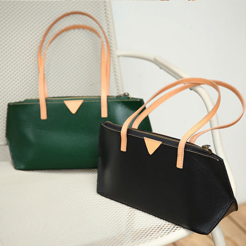 Womens Small Tote Handbags Leather Zip Top Tote Bag Purse
