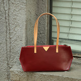 Womens Small Tote Handbags Leather Zip Top Tote Bag Purse - Annie Jewel