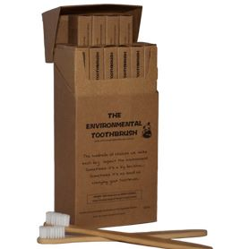 Bamboo Environmental Toothbrushes 12 Pack - Barefoot Creations