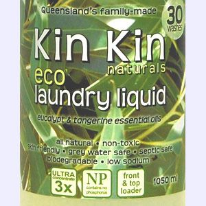 Kin Kin naturals - Laundry Liquid Eucalypt & Lemon Myrtle essential oils - 1050ml - Barefoot Creations