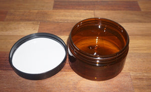 250gr Amber PET cream jar - Barefoot Creations