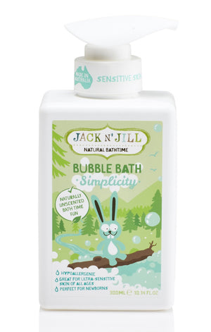 Simplicity Bubble Bath, Natural Bath Time 300ML - Barefoot Creations