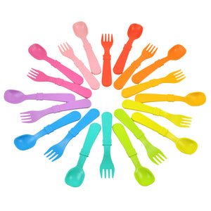 Re-Play Utensils (Fork & Spoon) 8 Pack - Barefoot Creations