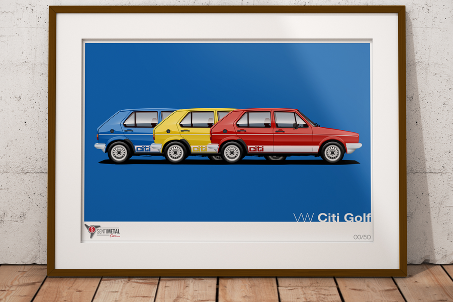 New Product: VW Citi Golf in red, yellow, blue...
