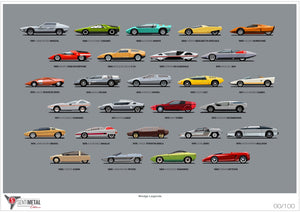 The cars of the Wedge Legends artwork