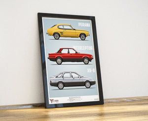South African Ford Special Editions A2 Print