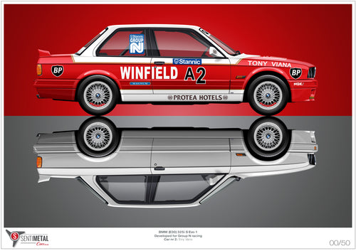 BMW 325i S: Group N Legend Print (A2)