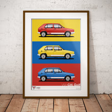 VW Citi Golf - Portrait Mix Print (A2 & A3)