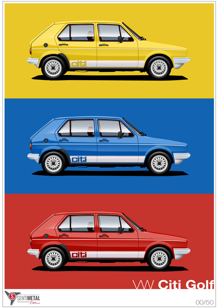 VW Citi Golf - Portrait (A2 & A3)