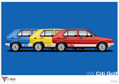 VW Citi Golf Print (A2 & A3)