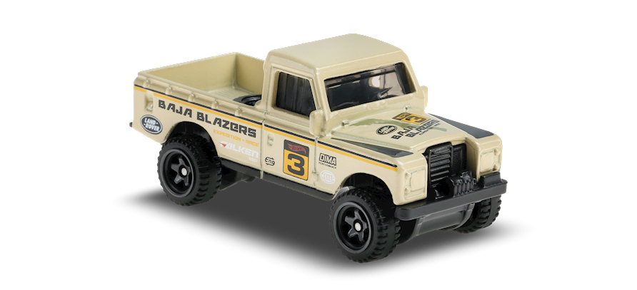 Hot Wheels Land Rover Series III Pickup (Khaki)