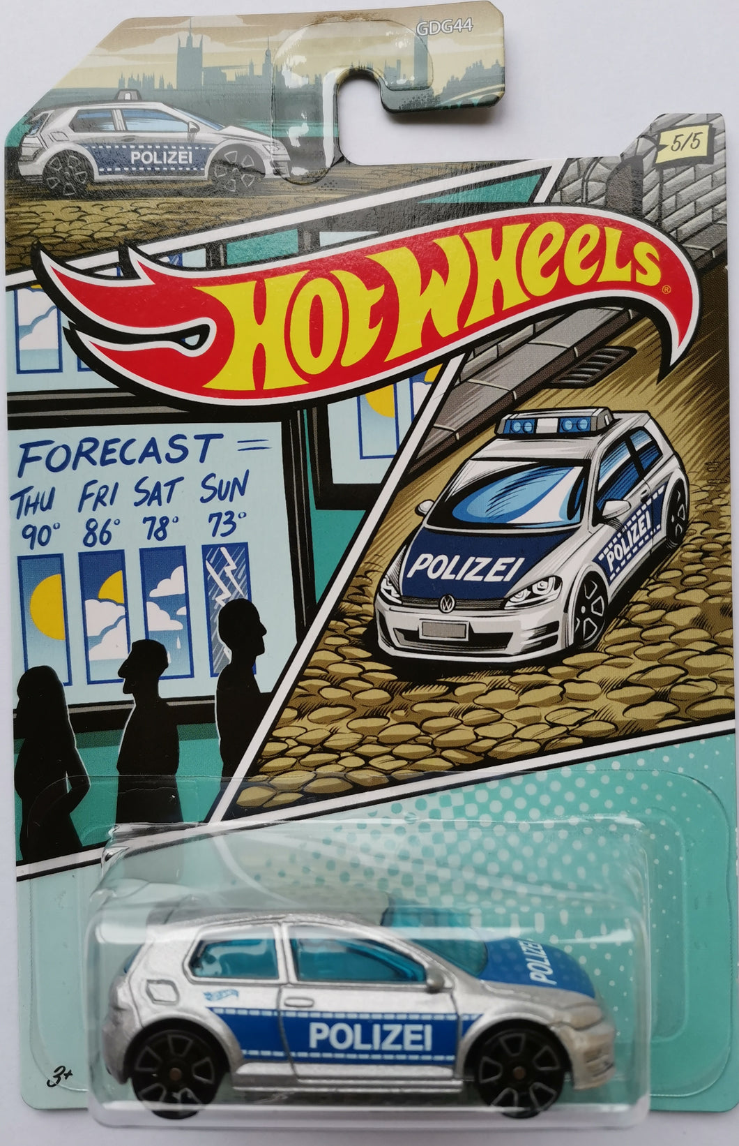 Hot Wheels Police Volkswagen Golf Mk7
