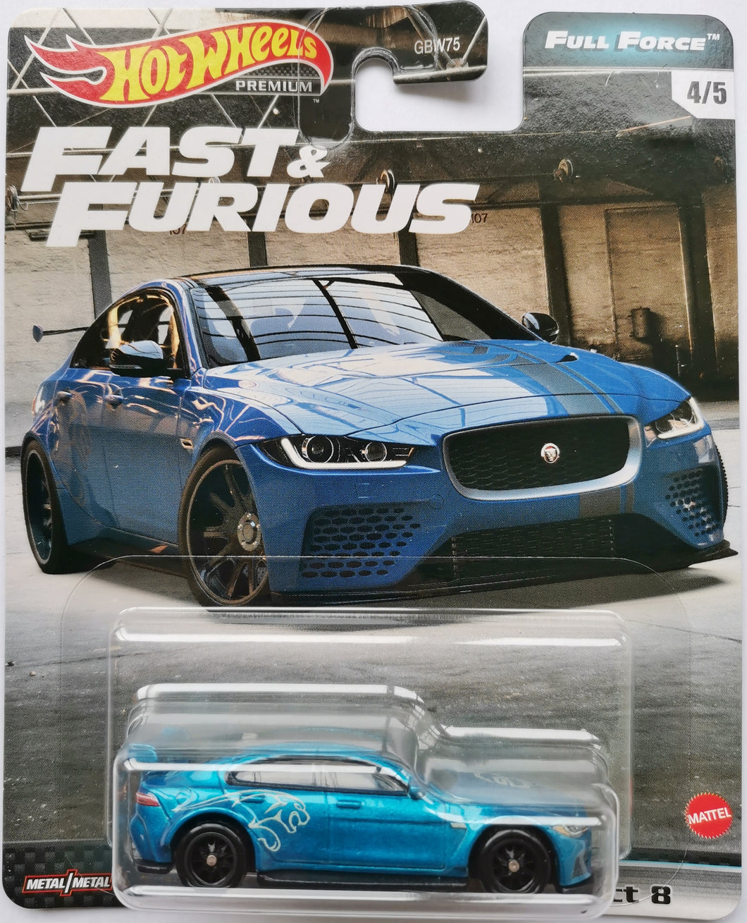 Hot Wheels Fast & Furious Full Force Jaguar XE SV Project 8