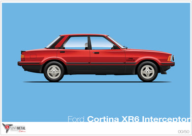 Ford Cortina XR6 Interceptor Print (A2&A3)