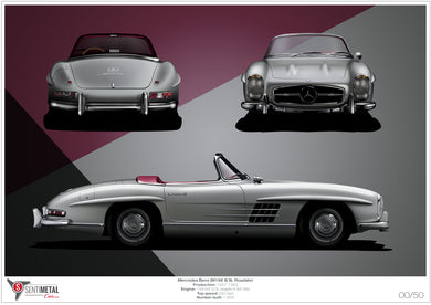 Mercedes-Benz 300 SL Roadster Print (A2)