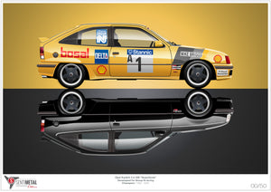 Opel Kadett Superboss: Group N Legend Print (A2)