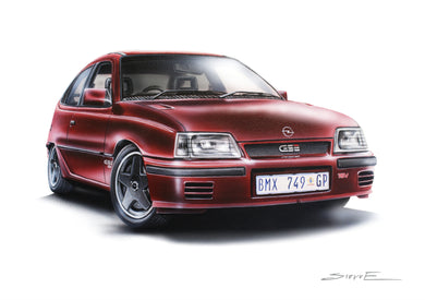 Steve Erwin Art: Opel Kadett Superboss Print (A3, A4, A5 sizes)