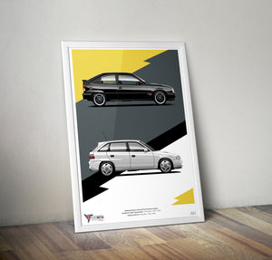 Opel South Africa Super Hatches Print (A2)