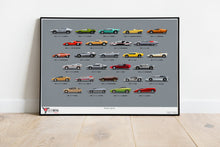 Wedge Legends - Iconic Concept Cars Print (A1)