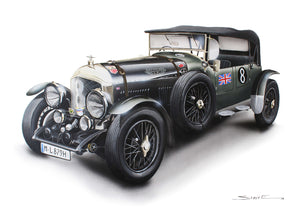 Steve Erwin Art: Bentley Mark VI Special (A3, A4, A5 sizes)