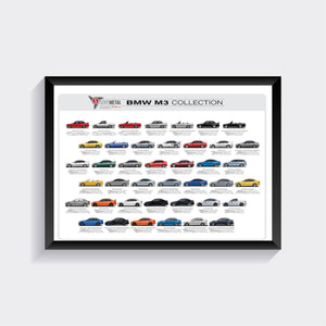 BMW M3 Collection A1 Print