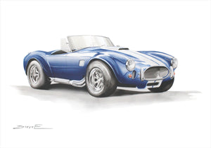 Steve Erwin Art: AC Cobra Print (A3, A4, A5 sizes)