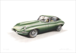 Steve Erwin Art: Jaguar E-Type (A3, A4, A5 sizes)