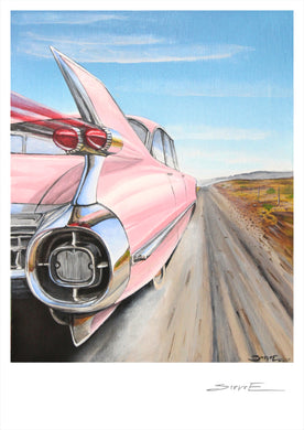 Steve Erwin Art: Pink Cadillac (A3, A4, A5 sizes)