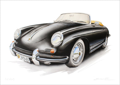 Steve Erwin Art: Porsche 356 Print (A3, A4, A5 sizes)