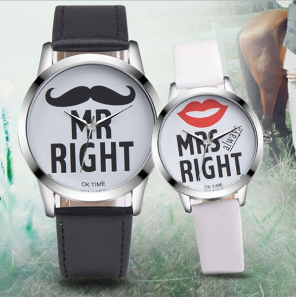 Couple Watches - Popular Woman/ Man Casual Quartz Watch   Fun Lover's Gift